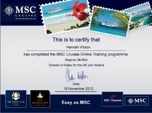 MSC Certificate
