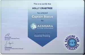 azamara captain certificate