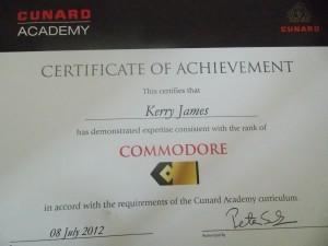 Achieved 08/07/2012