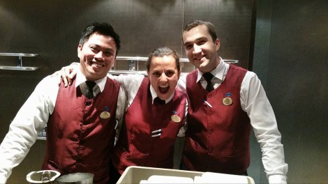The Excellent fun loving bar staff in Skywalkers