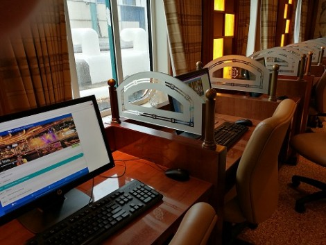 Internet area - I actually used the ships WIFI and found it very reliable. Dont forget 250 minutes free WIFI for Elite guests!