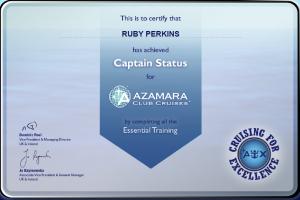 Azamara Cruises - Captain Status