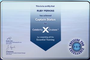 Celebrity Cruises - Captain Status