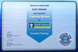 Royal Caribbean - Captain status