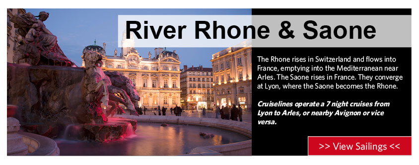 river rhone and saone