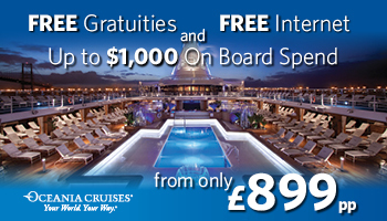 Oceania Cruises - FREE Tips, Drinks and Onboard Spending Money!