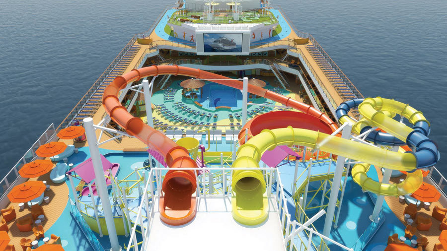 Water Slides On A Cruise Ship Will The Trend Continue IE - Best waterslides on cruise ships