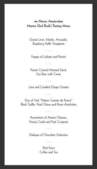 Cruise ship menus master chef rudi menu publicscrutiny Image collections