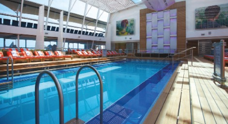 A pool with good access on board Celebrity Silhouette