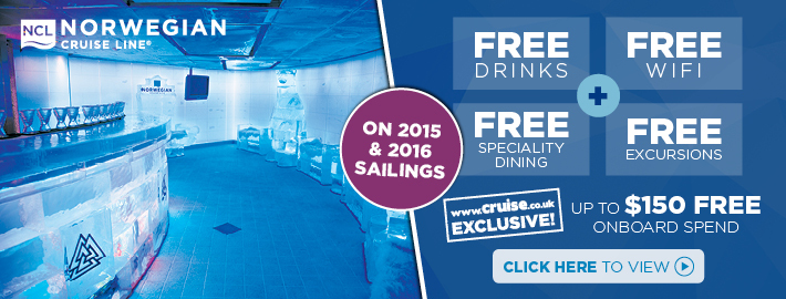NCL Free drinks, shore excursions & spend