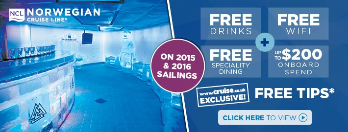 NCL Free drinks, wifi & spend