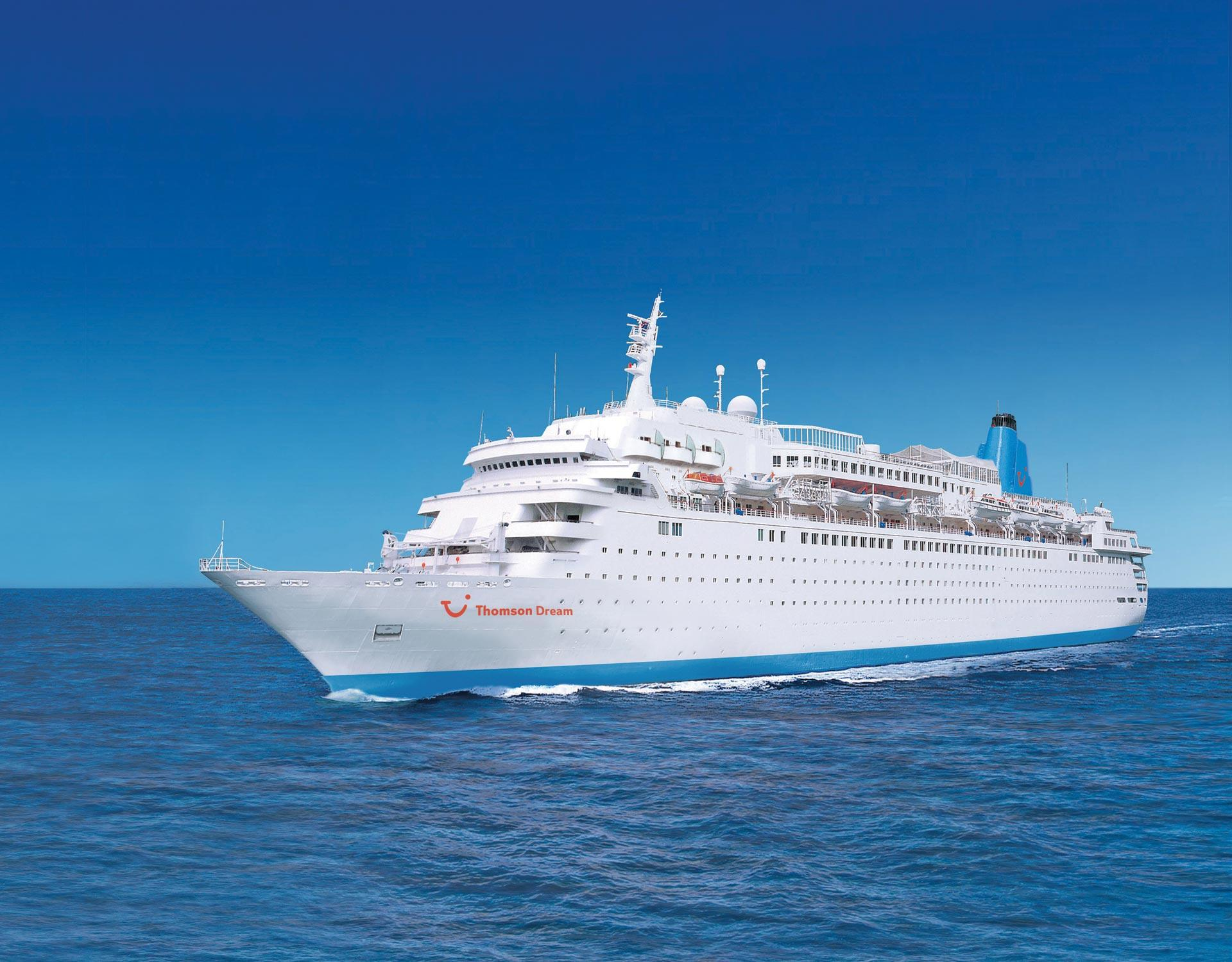 Thomson Cruises  Thomson Dream Exterioroverview Official