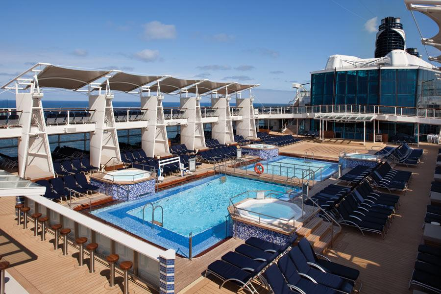celebrity cruises   celebrity equinox pool official cruise