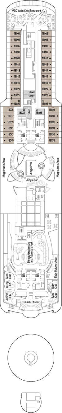 Playa Paraiso Deck Plan