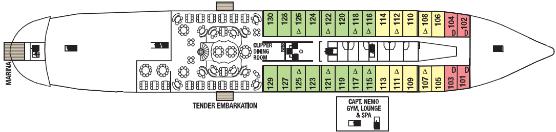 Commodore Deck Deck Plan