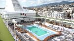 Silver Whispers Pool deck docked in Sicilia