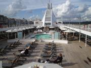 Pool deck on Voyager in November