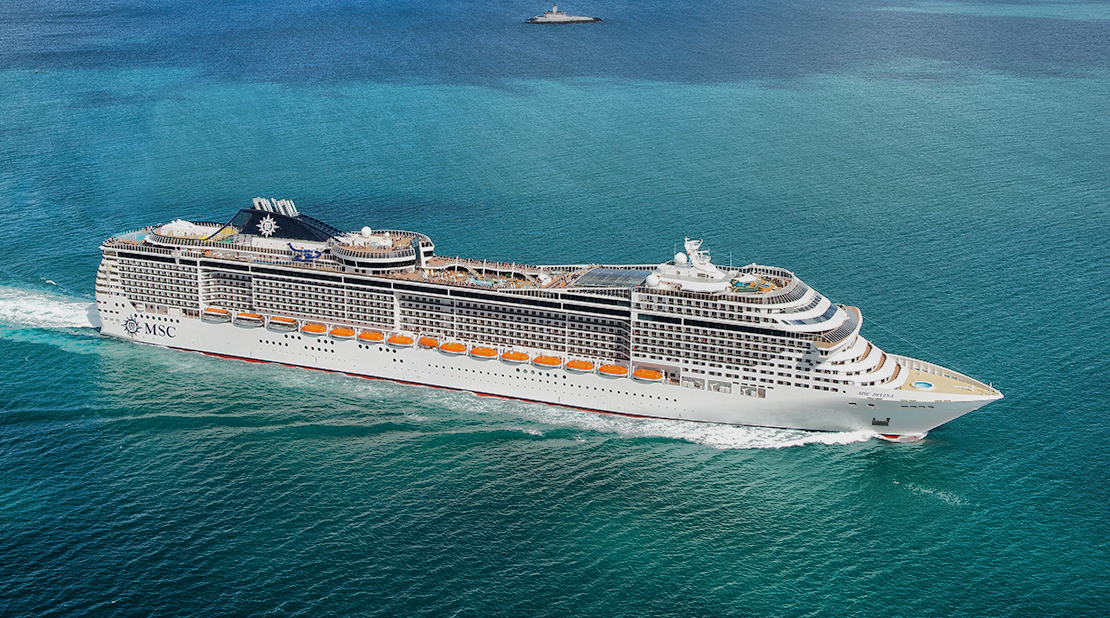 MSC Divina at Sea