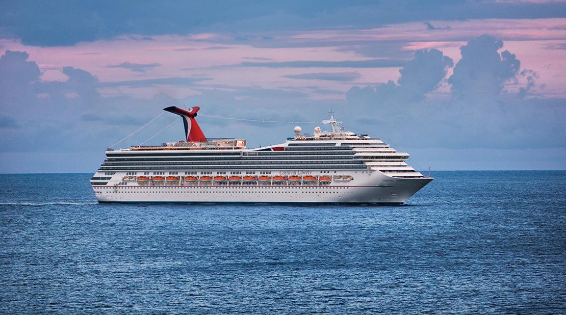Carnival Liberty at Sea