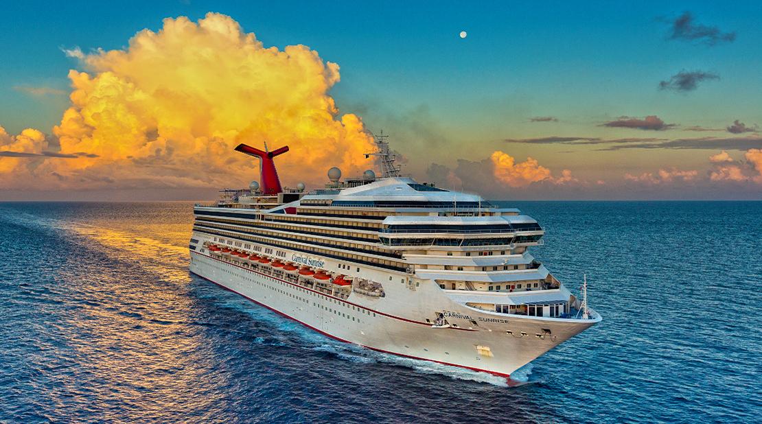 Carnival Sunrise at Sea