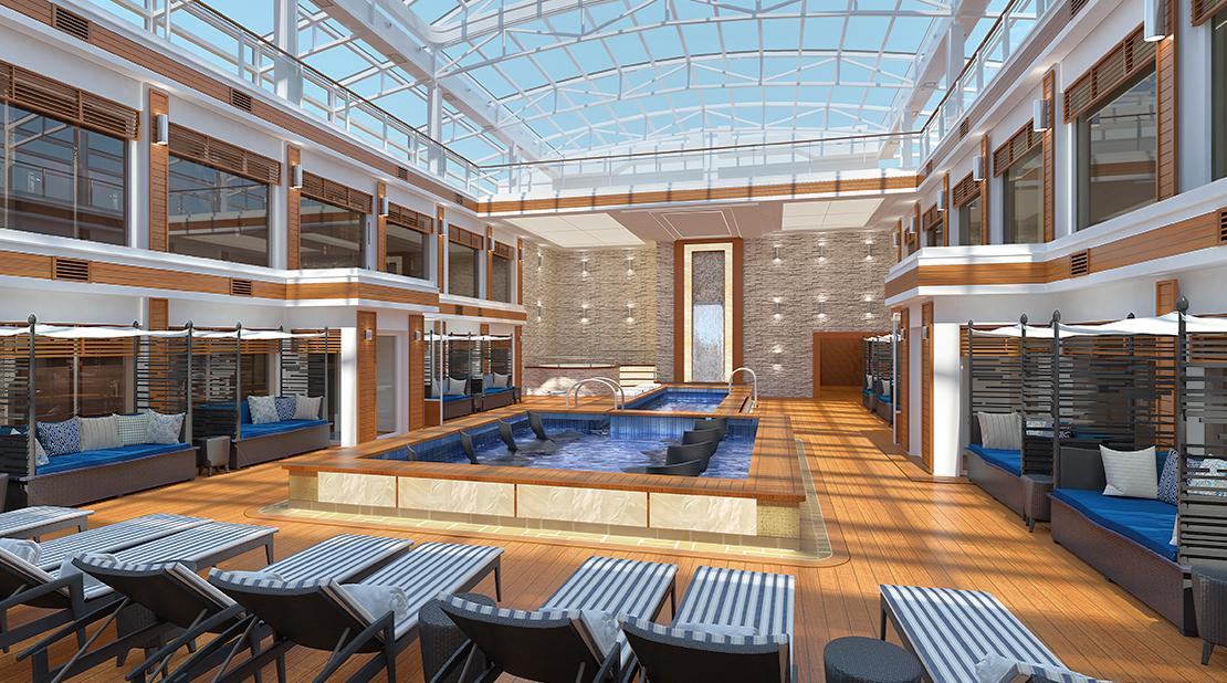 NCL Cruises Norwegian Encore Haven Courtyard Pool