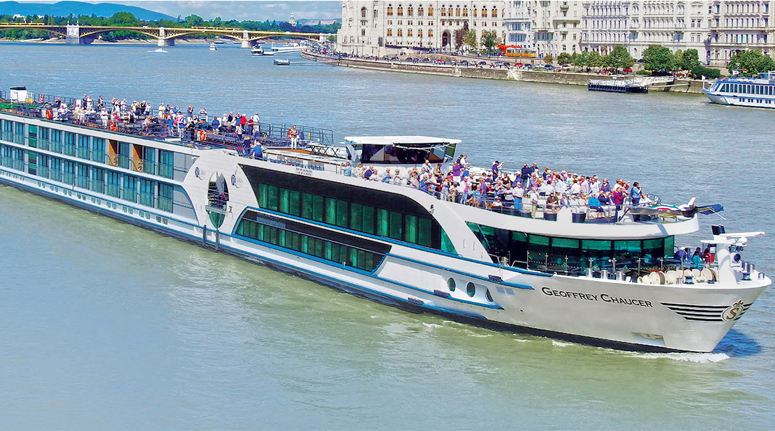 MS Geoffrey Chaucer on the River