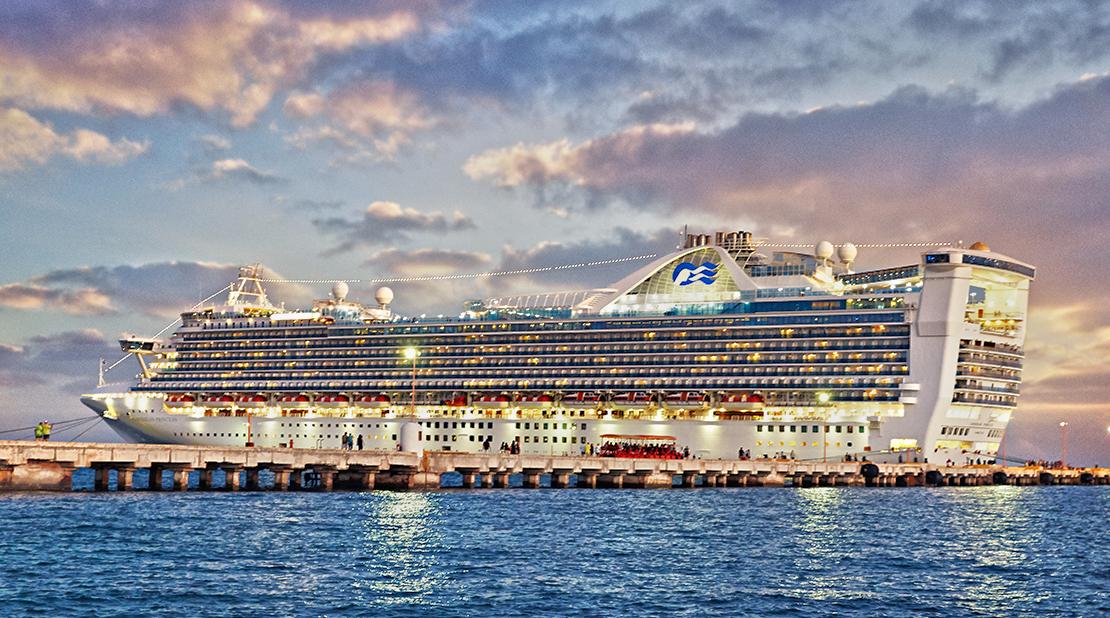 Caribbean Princess at Sea