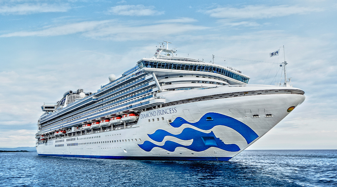 Diamond Princess at Sea