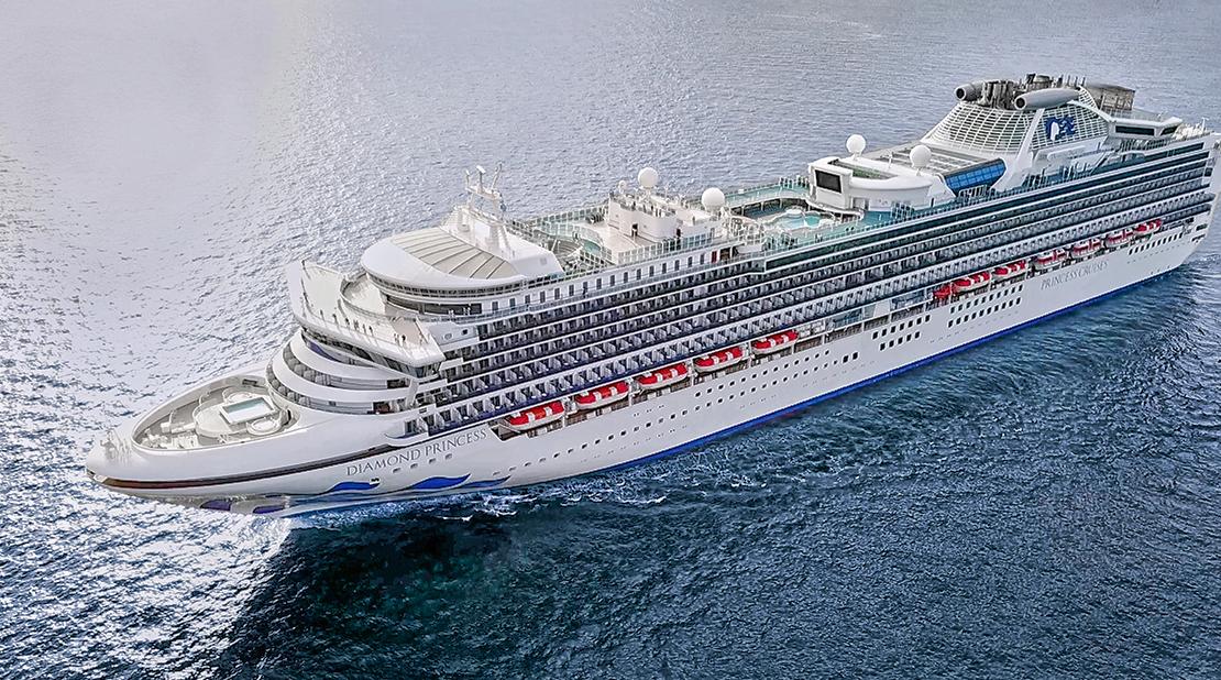 Diamond Princess at Sea