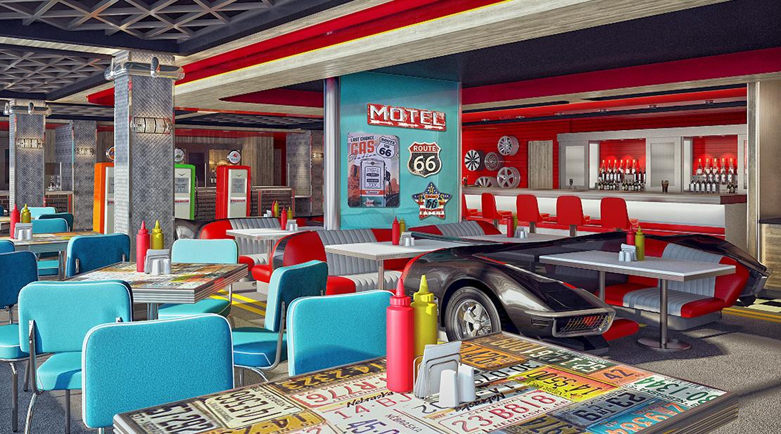 Norwegian Encore American Diner