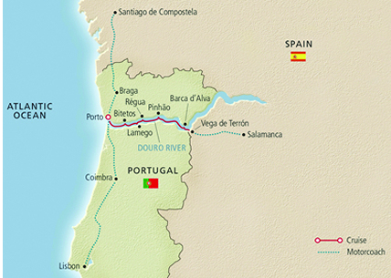 Portugal's River of Gold Map