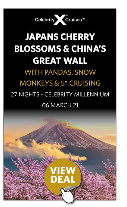 Japans Cherry Blossoms & China's Great Wall