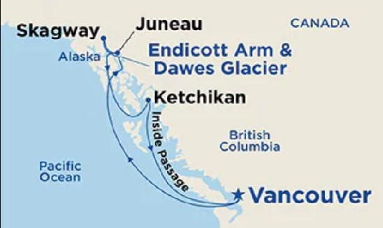 Rocky Mountaineer & Alaskan Odyssey Map