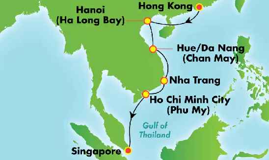 China In Your Hands with Great Wall & Terracotta Army With Free Drinks on Your Cruise Map