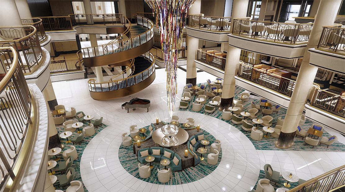 P&O Cruises Britannia Atrium